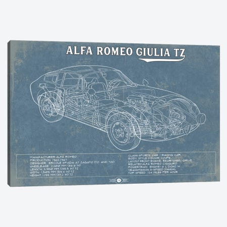 Alfa Romeo Giulia TZ Canvas Print #CWE2} by Cutler West Canvas Art Print