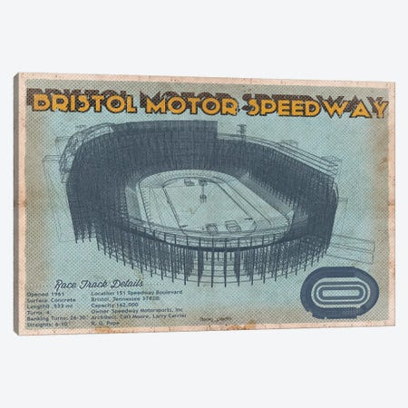 Bristol Motor Speedway In Blue Canvas Print #CWE30} by Cutler West Art Print