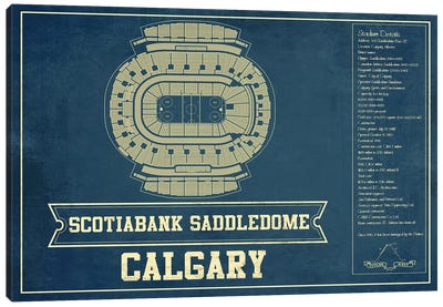 Calgary Scotiabank Saddledome Canvas Art Print