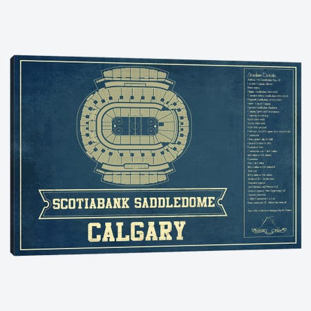 Calgary Scotiabank Saddledome Canvas Print #CWE31} by Cutler West Canvas Print