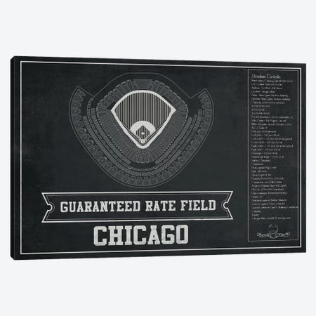 Chicago Guaranteed Rate Field Canvas Print #CWE33} by Cutler West Canvas Print