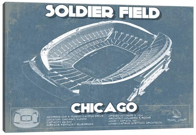 Chicago Soldier Field Canvas Art Print