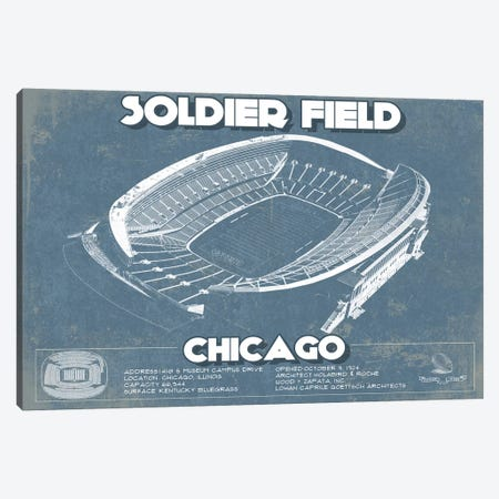 Chicago Soldier Field Canvas Print #CWE34} by Cutler West Canvas Artwork
