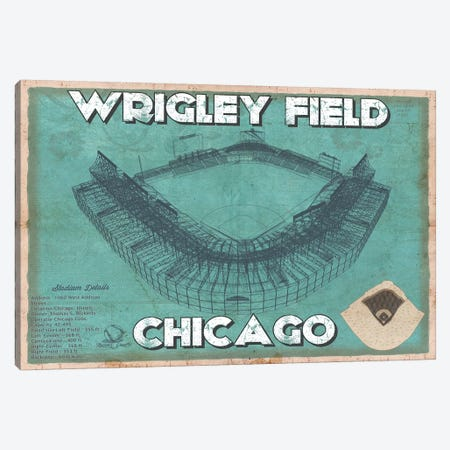 Chicago Wrigley Field Canvas Print #CWE37} by Cutler West Canvas Art