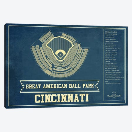 Cincinnati Great American Ball Park Canvas Print #CWE39} by Cutler West Canvas Art Print