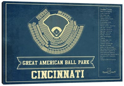 Cincinnati Great American Ball Park Canvas Art Print