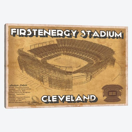 Cleveland First Energy Stadium Canvas Print #CWE41} by Cutler West Canvas Art