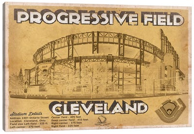 Cleveland Progressive Field I Canvas Art Print