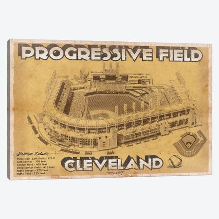 Cleveland Progressive Field II Canvas Print #CWE43} by Cutler West Canvas Art