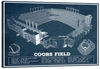 Colorado Coors Field I Canvas Art Print