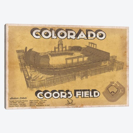 Colorado Coors Field II Canvas Print #CWE45} by Cutler West Canvas Print