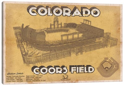 Colorado Coors Field II Canvas Art Print