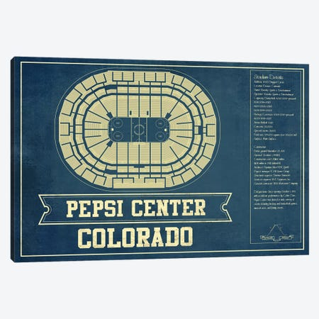 Colorado Pepsi Center Canvas Print #CWE46} by Cutler West Canvas Art Print