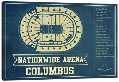 Columbus Nationwide Arena Canvas Art Print