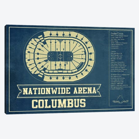 Columbus Nationwide Arena Canvas Print #CWE47} by Cutler West Canvas Art Print