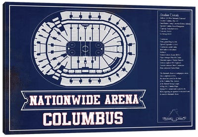 Columbus Nationwide Arena In Team Colors Canvas Art Print