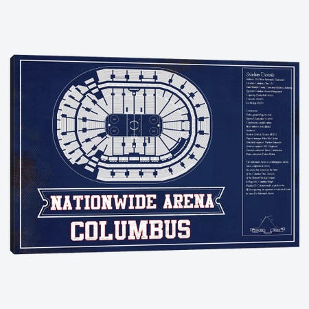 Columbus Nationwide Arena In Team Colors Canvas Print #CWE48} by Cutler West Canvas Art