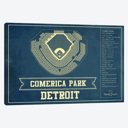 Detroit Comerica Park I Canvas Print #CWE49} by Cutler West Canvas Wall Art