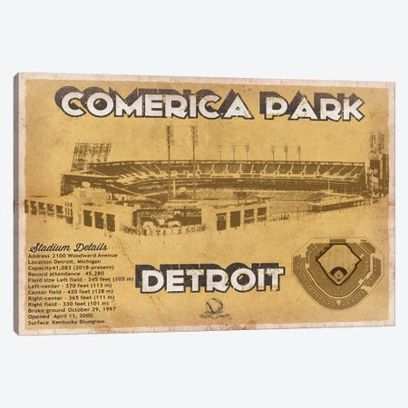 Detroit Comerica Park II Canvas Print #CWE50} by Cutler West Art Print