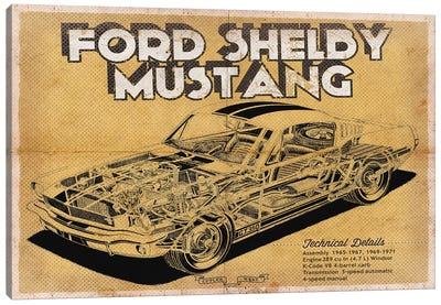 Ford Shelby Mustang Canvas Art Print