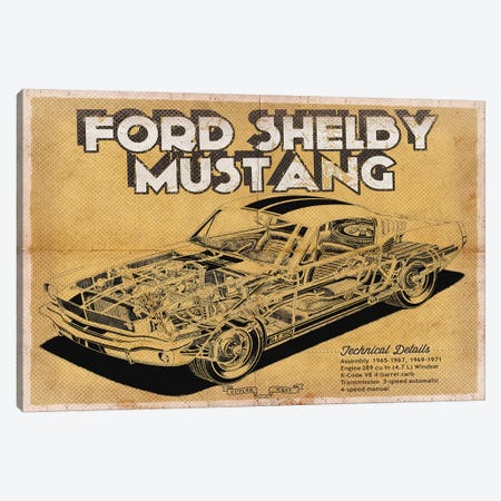 Ford Shelby Mustang Canvas Print #CWE55} by Cutler West Canvas Artwork