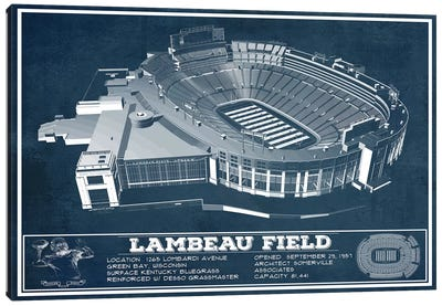 Green Bay Lambeau Field I Canvas Art Print
