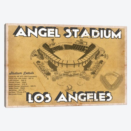 Angel Stadium Canvas Print #CWE5} by Cutler West Canvas Art