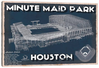 Houston Minute Maid Park Canvas Art Print