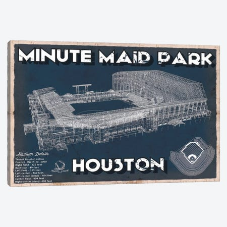 Houston Minute Maid Park Canvas Print #CWE60} by Cutler West Canvas Wall Art