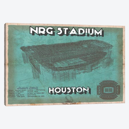 Houston NRG Stadium  Canvas Print #CWE62} by Cutler West Canvas Art
