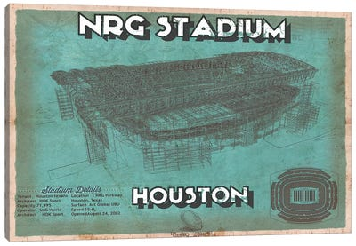 Houston NRG Stadium  Canvas Art Print