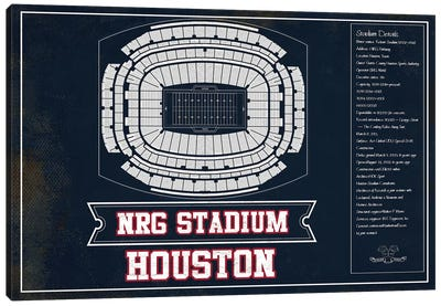 Houston NRG Stadium In Team Colors Canvas Art Print