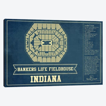 Indiana Bankers Life Fieldhouse 3-Piece Canvas #CWE64} by Cutler West Canvas Art Print
