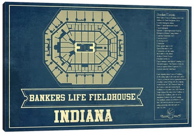 Indiana Bankers Life Fieldhouse Canvas Art Print