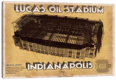 Indianapolis Lucas Oil Stadium Canvas Art Print