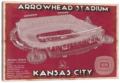 Kansas City Arrowhead Stadium Canvas Art Print