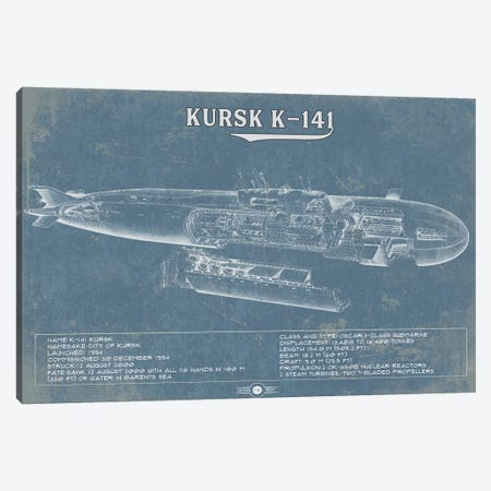 Kursk K-141 Canvas Print #CWE69} by Cutler West Canvas Artwork