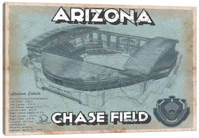 Arizona Chase Field Canvas Art Print