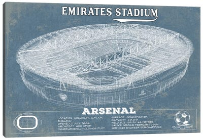 London Emirates Stadium Canvas Art Print