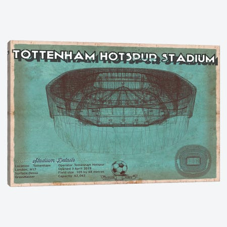 London Tottenham Hotspur Stadium Canvas Print #CWE73} by Cutler West Art Print