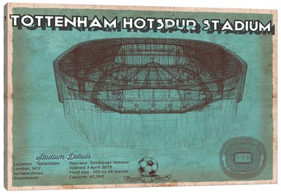 London Tottenham Hotspur Stadium Canvas Art Print