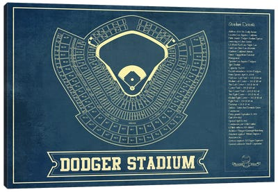 Los Angeles Dodger Stadium Canvas Art Print