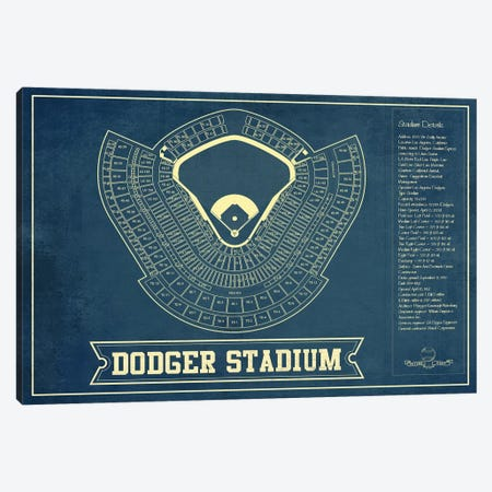Los Angeles Dodger Stadium Canvas Print #CWE74} by Cutler West Canvas Wall Art