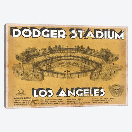 Los Angeles Dodger Stadium Brown Canvas Print #CWE76} by Cutler West Canvas Wall Art