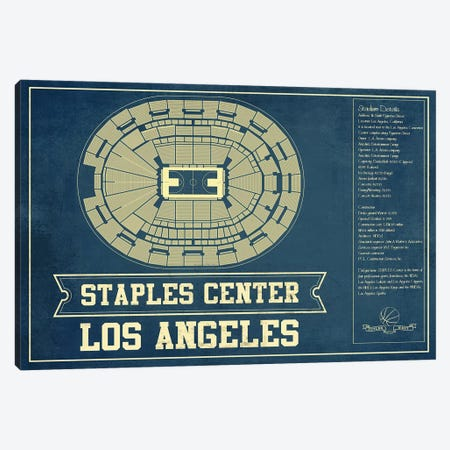 Los Angeles Staples Center Canvas Print #CWE77} by Cutler West Canvas Art