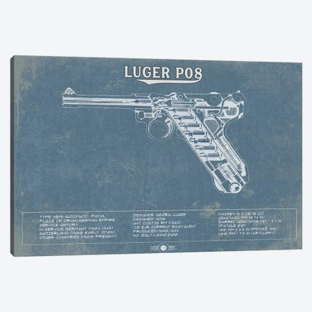 Luger P08 Canvas Print #CWE78} by Cutler West Canvas Print