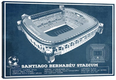Madrid Santiago Bernabeu Stadium Canvas Art Print