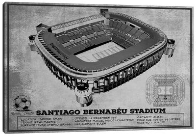 Madrid Santiago Bernabeu Stadium In Team Colors Canvas Art Print