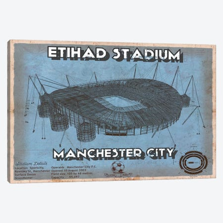 Manchester Etihad Stadium Canvas Print #CWE81} by Cutler West Canvas Art