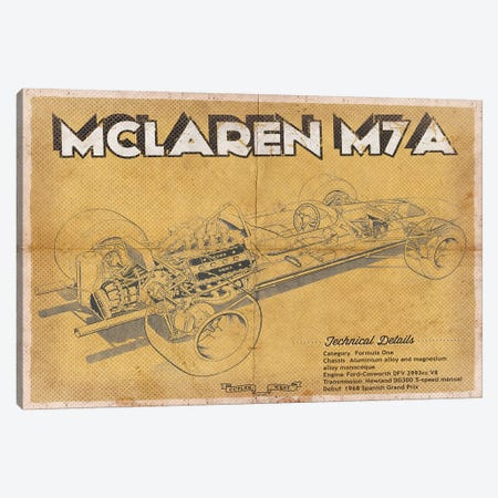 Mclaren M7A Canvas Print #CWE84} by Cutler West Art Print